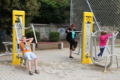 Street workout park w Chorzowie Batorym