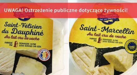 GIS: Sery z Francji wycofywane ze sprzedaży. Są zanieczyszczone Escherichia coli!