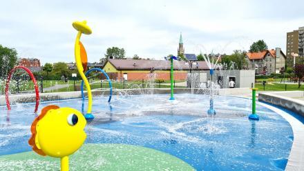 Otwarcie wodnego placu zabaw w Chorzowie