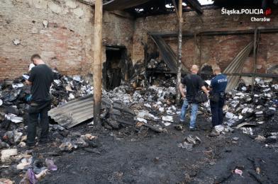 Pożar na terenie hali przy ul. Skargi w Chorzowie: Nowe ustalenia