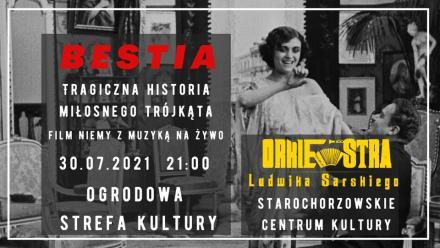 """Niemy film """"Bestia"""" z muzyką na żywo w wykonaniu Orkiestry Ludwika Sarskiego"""