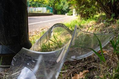 Park Śląski: Wandale zniszczyli 9 latarni przy Alei Fali