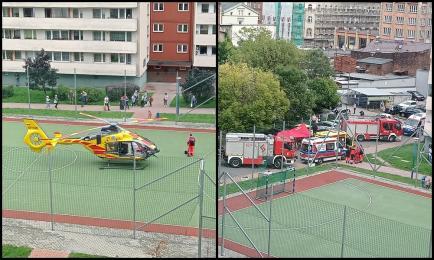 Chorzów: Kobieta wyskoczyła z 3. piętra budynku w centrum miasta